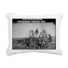 US Civil War Soldiers 1 Rectangular Canvas Pillow
