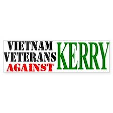 Vietnam Vets Against Kerry Bumper Sticker