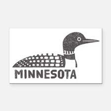 Minnesota Loon Rectangle Car Magnet