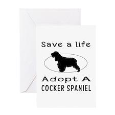 Adopt A Cocker Spaniel Dog Greeting Card