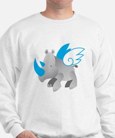 Angels come in all sizes Rhino copy.png Sweatshirt