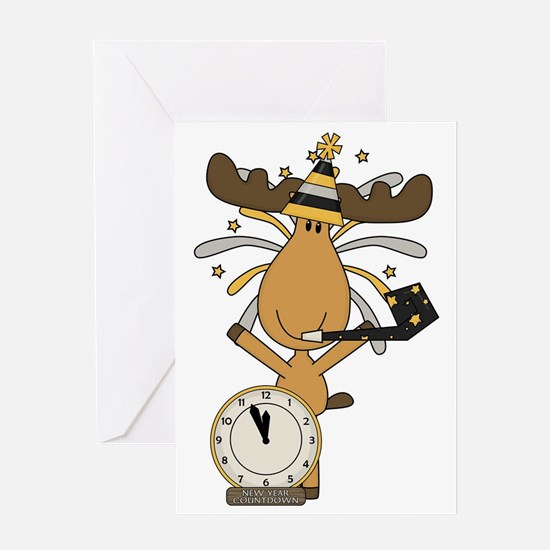 New Years moose Greeting Card