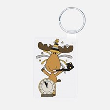 New Years moose Keychains