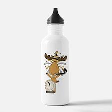 New Years moose Water Bottle