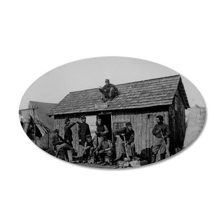 Civil war pine cottage 35x21 Oval Wall Decal