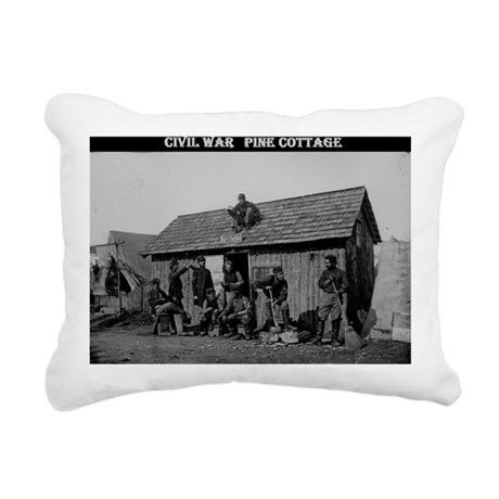 Civil war pine cottage Rectangular Canvas Pillow