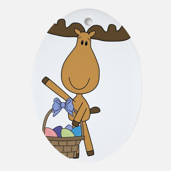 easter moose Oval Ornament