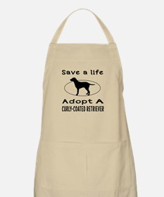 Adopt A Curly-Coated Retriever Dog Apron
