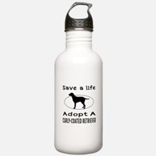 Adopt A Curly-Coated Retriever Dog Water Bottle