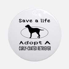 Adopt A Curly-Coated Retriever Dog Ornament (Round