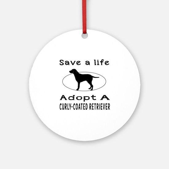 Adopt A Curly-Coated Retriever Dog Ornament (Round