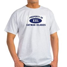 Property of CAYMAN ISLANDS Ash Grey T-Shirt