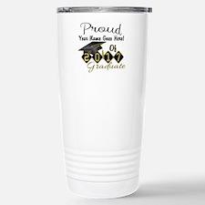 Proud 2017 Graduate Black Travel Mug