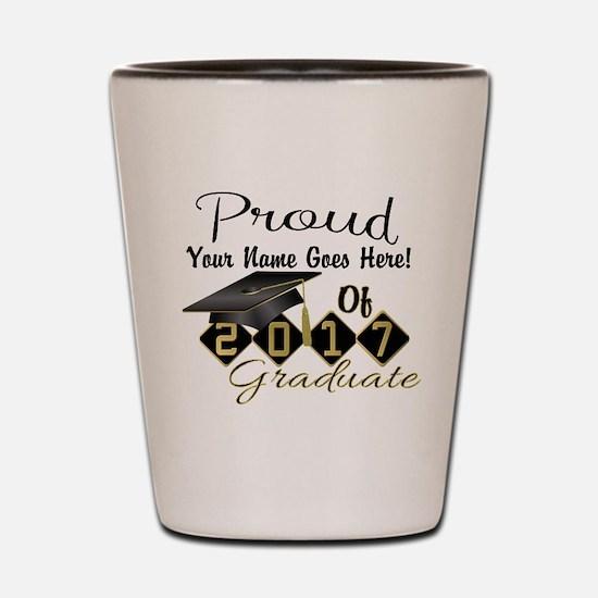 Proud 2017 Graduate Black Shot Glass