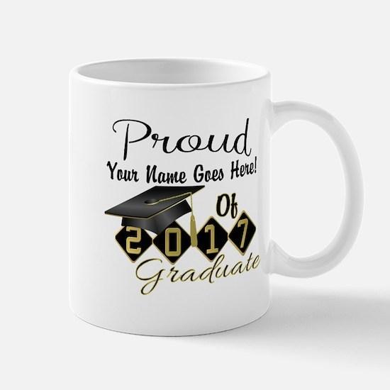 Proud 2017 Graduate Black Mugs