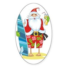 surf santa Decal