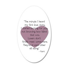 Lovers 20X12 Oval Wall Decal