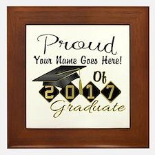 Proud 2017 Graduate Black Framed Tile