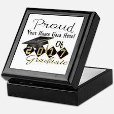 Proud 2017 Graduate Black Keepsake Box