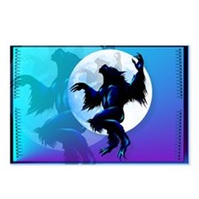 Werewolf On The Loose Oval Postcards (Package of 8