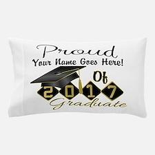 Proud 2017 Graduate Black Pillow Case