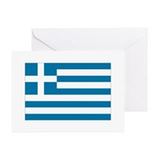 The flag of Greece Greeting Cards (Pk of 10)