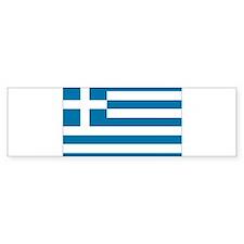 The flag of Greece Bumper Bumper Sticker