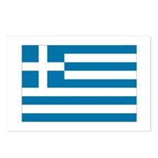 The flag of Greece Postcards (Package of 8)