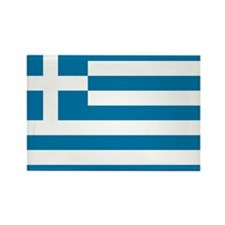 The flag of Greece Rectangle Magnet