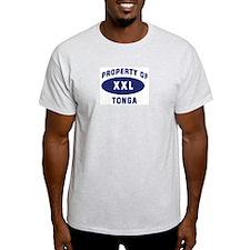 Property of TONGA Ash Grey T-Shirt