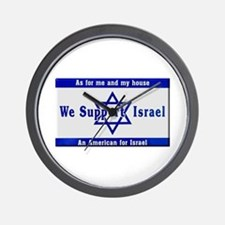 We Support Israel Wall Clock
