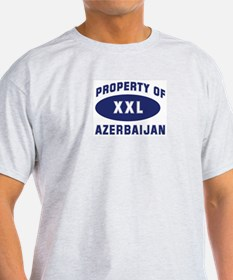 Property of AZERBAIJAN Ash Grey T-Shirt
