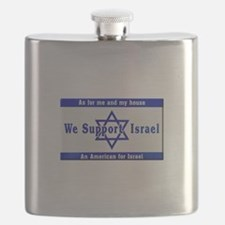 We Support Israel Flask