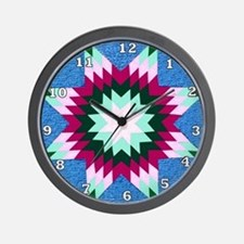 Star Quilt Wall Clock