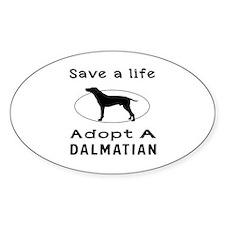 Adopt A Dalmatian Dog Decal