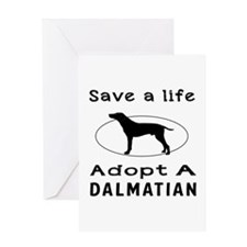 Adopt A Dalmatian Dog Greeting Card