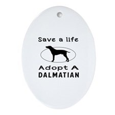 Adopt A Dalmatian Dog Ornament (Oval)