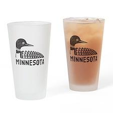 Minnesota Loon Drinking Glass