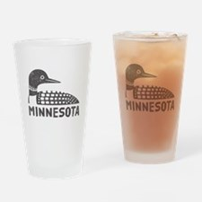 Minnesota Loon Drinking Glass