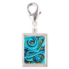 Blue Graffiti Charms