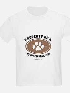 Mal-Shi dog Kids T-Shirt