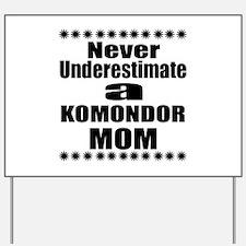 Komondor Mom Yard Sign