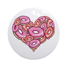 Heart of Donuts Ornament (Round)