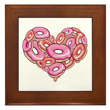 Heart of Donuts Framed Tile
