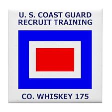 USCG Recruit Company W175<BR> Tile Coaster