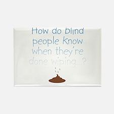 Blind Wipe Rectangle Magnet