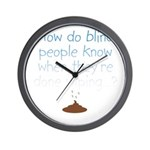 Blind Wipe Wall Clock