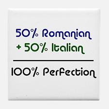 Italian & Romanian  Tile Coaster