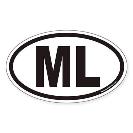 ML Euro Oval Sticker