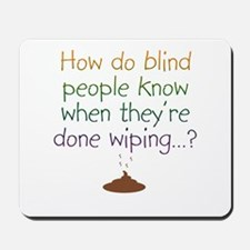 Blind Wipe Mousepad